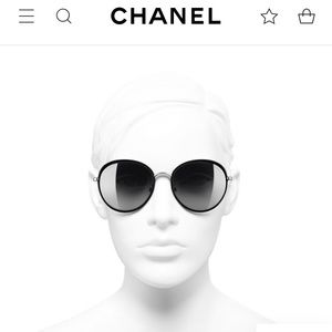 Chanel Sunglasses with Case Black & Silver